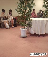 横浜の展望ラウンジ室内